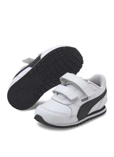 Puma Puma 36696108 ST Runner v2 Beyaz - Siyah Erkek Bebek Yürüyüş Ayakkabısı Beyaz